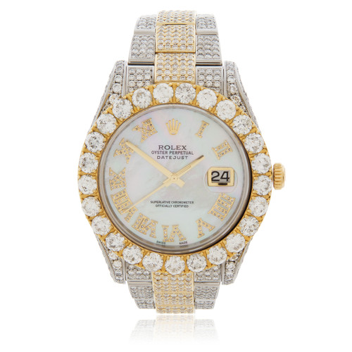 Rolex Datejust Ii 24ct Diamond Automatic Men S Watch