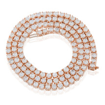 14k Rose Gold 14ct Diamond Tennis Chain