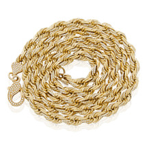 14k Yellow Gold 14.06ct Diamond Rope Chain 31in