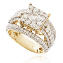 14K Yellow Gold 2.75ct Diamond Engagement Ring