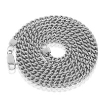 White Sterling Silver 4.5mm Franco Chain 24.5in