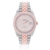 Rolex DateJust 41 Rose Gold 2.5ct Diamond Bezel Automatic Men's Watch