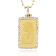 14k Yellow Gold .75ct Diamond Pure Gold Pendant
