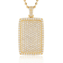 10k Yellow Gold 7.56ct Dog Tag Pendant