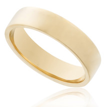 14K Yellow Gold Solid Band