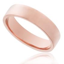 14K Rose Gold Solid Band