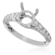 18K White Gold .72ct Engagement Ring Setting