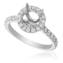 18K White Gold .89ct Engagement Ring Setting