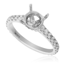 18K White Gold .73ct Engagement Ring Setting