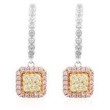 14k White Gold .85ct Diamond Drop Earrings