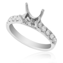 18K White Gold .59ct Engagement Ring Setting