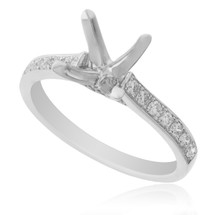 18K White Gold .30ct Engagement Ring Setting Front