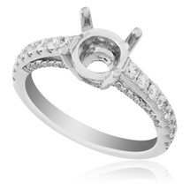 18K White Gold .65ct Engagement Ring Setting