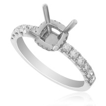 18K White Gold .49ct Engagement Ring Setting