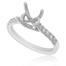18K White Gold .38ct Engagement Ring Setting