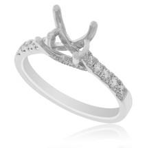 18K White Gold .38ct Engagement Ring Setting