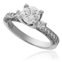 Tacori Platinum .48ct Engagement Ring Setting