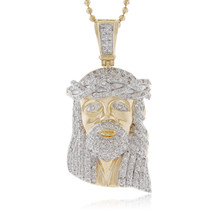 14k yellow gold 285ct diamond jesus head pendant shyne jewelers 14k yellow gold 178ct diamond jesus head pendant front aloadofball Choice Image