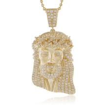 Mens jewelry pendants jesus head page 1 shyne jewelers 14k yellow gold 285ct diamond jesus head pendant aloadofball Gallery