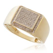 10k Yellow Gold .42ct Diamond Ring