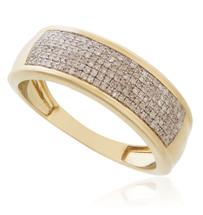 10k Yellow Gold .39ct Diamond Ring