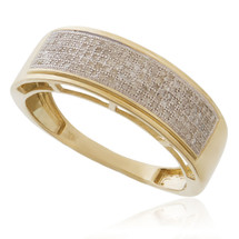 10k Yellow Gold .35ct Diamond Ring