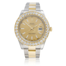 Rolex DateJust II 18k Yellow Gold 3ct Diamond Bezel Automatic Men's Watch