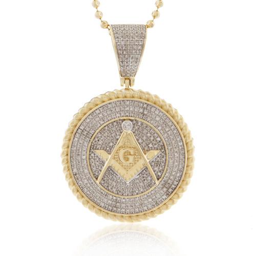 10k yellow gold 100ct diamond freemason pendant shyne jewelers 10k yellow gold 100ct diamond freemason pendant aloadofball Gallery