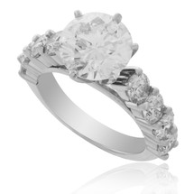 14k White Gold 4.25ct Diamond Engagement Ring