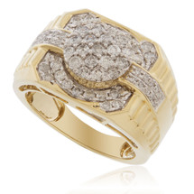 10k Yellow Gold 1.48ct Men's Diamond Ring