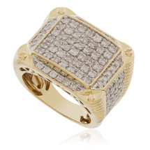 10k Yellow Gold 2.93ct Diamond Ring