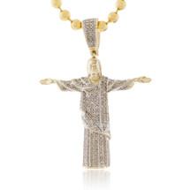 10k Yellow Gold .5ct Diamond Jesus Pendant