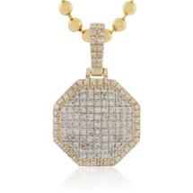 10k Yellow Gold 1.35ct Diamond Octagon Pendant