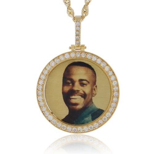 14k yellow gold custom diamond picture pendant shyne jewelers custom diamond picture pendant image 1 aloadofball Gallery