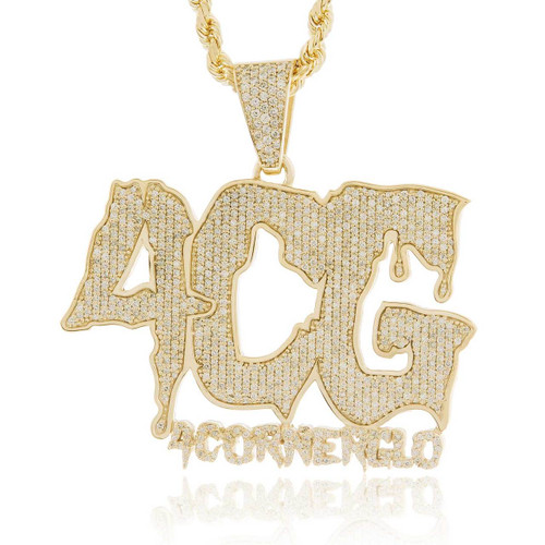 10k yellow gold custom diamond 4cg pendant shyne jewelers image 1 aloadofball Gallery