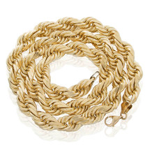 10k Yellow Gold 18mm Half Kilo Rope Chain