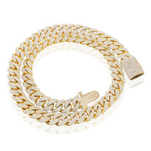 10k Yellow Gold 65ct Diamond Half Kilo Cuban Chain
