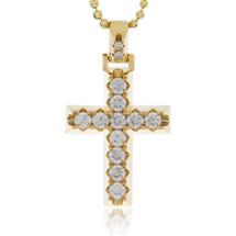 10k Yellow Gold 2.25ct Diamond Cross Pendant