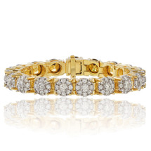 14k Yellow Gold 22.32ct Diamond Tennis Bracelet