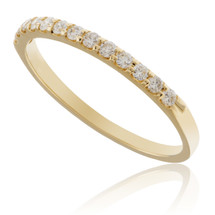 14K Yellow Gold .25ct Diamond 13 Stone Band