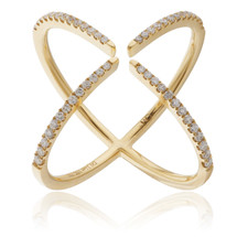 18K Yellow Gold .31ct Diamond Arrow Ring