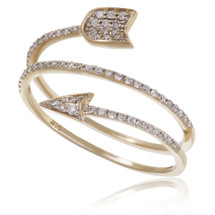 14K Yellow Gold .25ct Diamond Arrow Ring