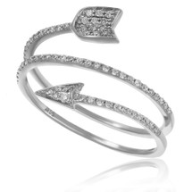 14K White Gold .25ct Diamond Arrow Ring