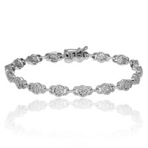 10K White Gold 1.25ct Diamond Bracelet