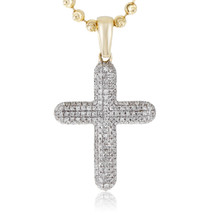 14k Yellow Gold .30ct Diamond Cross Pendant
