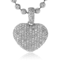 14k White Gold .25ct Diamond Micro Heart Pendant