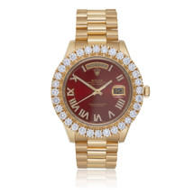 Rolex Day-Date II President 6ct Diamond Bezel Automatic Watch