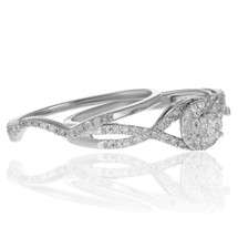 14k White Gold .5ct Diamond Engagement Ring Set