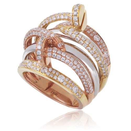 diamond color itm gold yellow crossover fashion band wedding img round rings ring tri ladies