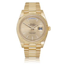 Rolex Day-Date 40 President Automatic Men's Watch 18K Yellow Gold